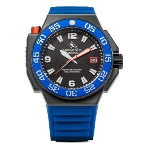 Horloge Heren Strumento Marino SM129S-BK-NR-BL (Ø 46 mm)